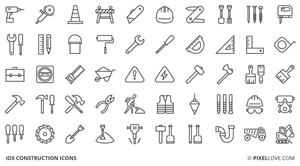 50 Free Construction Icons