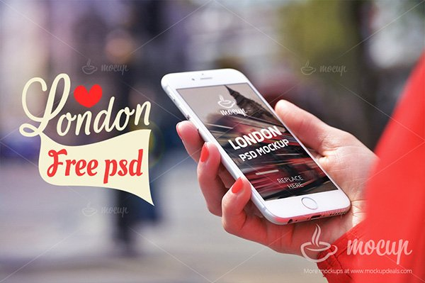 iPhone 6 PSD Mockup in London
