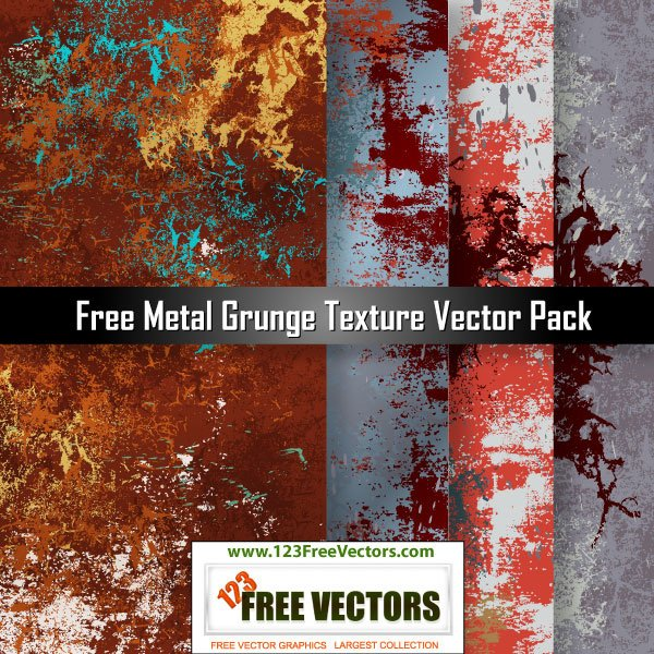 4 High Res Metal Grunge Textures