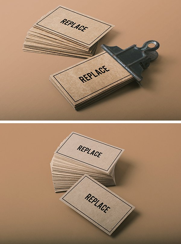 2 Business Card Mock-ups