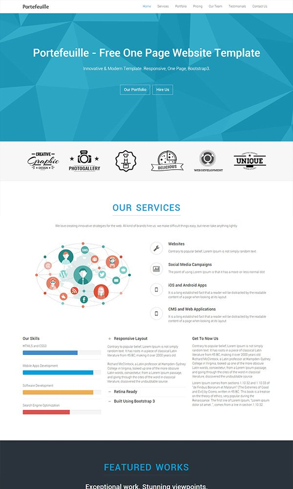 80 free html5 website templates download pronofoot35fo Choice Image