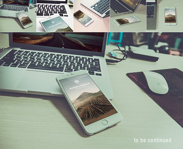 Photorealistic iPhone 6 Plus Mockups