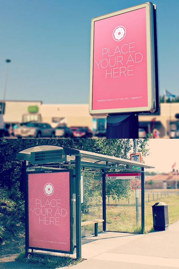 City Outdoor Billboards Mockup
