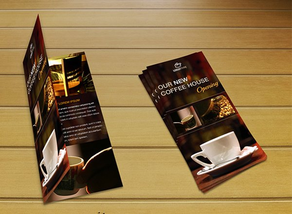 Free PSD Coffee Brochure Template