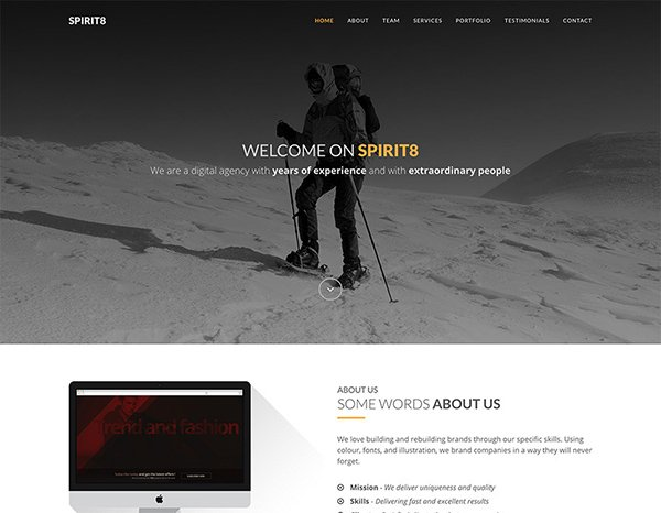 SPIRIT8 HTML Web Template