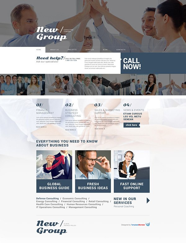WordPress Theme for Consulting Firm