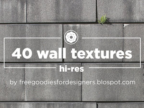 Freebie 40 HI-RES Wall Textures