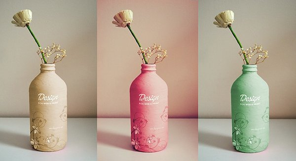 Handmade Free Bottle Mockup