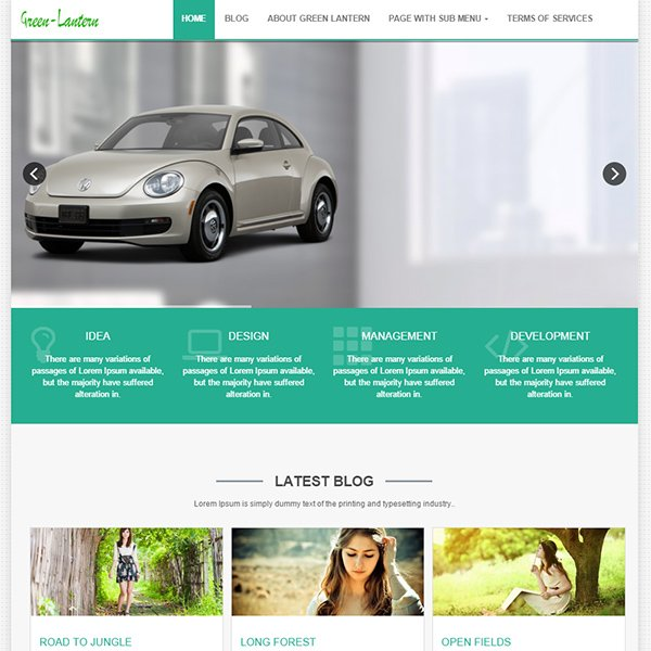 Green Lantern Free WordPress Theme