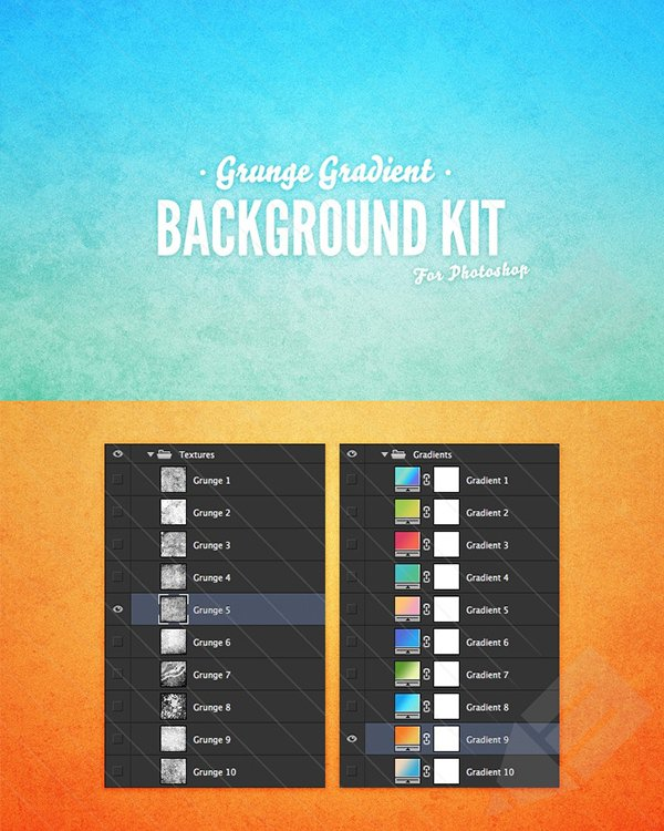Grunge Gradient Background Kit