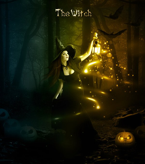Halloween Night Witch Photoshop Manipulation