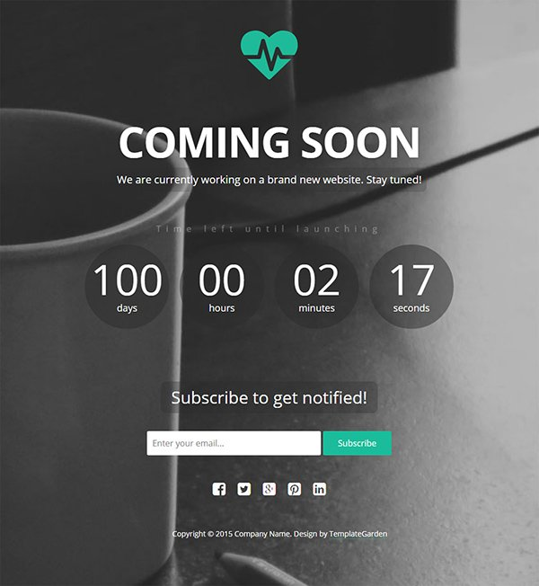 Heartbeat – Free Coming Soon Template