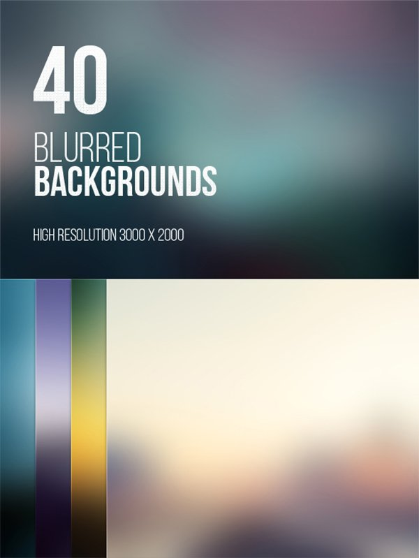 High Resolution Blurred Backgrounds Pack