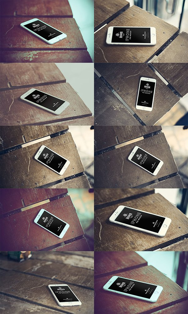 Hosoren – 10 Photorealistic iPhone 6 Free PSD Templates