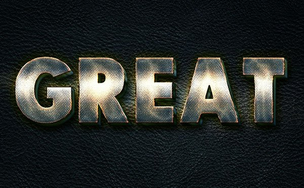 Create a Glowing Metal Text Effect in Adobe Photoshop