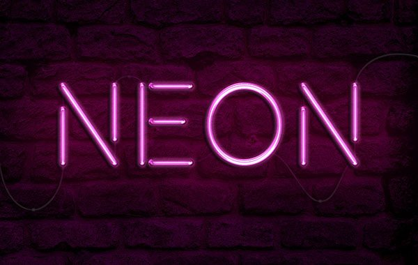 Create a Realistic Neon Light Text Effect in Adobe Photoshop