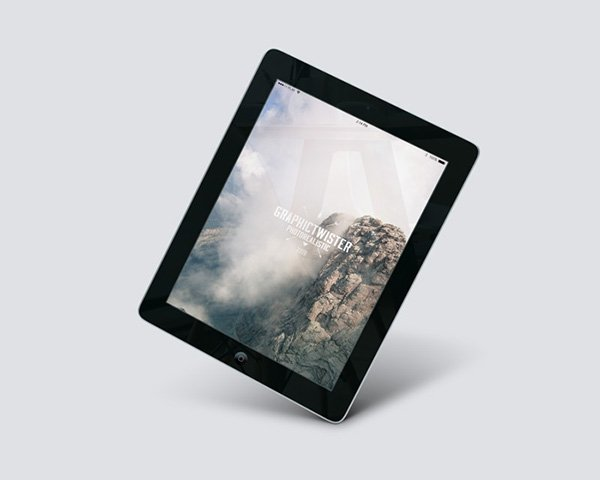 Free iPad 2 Air Perspective Mockup