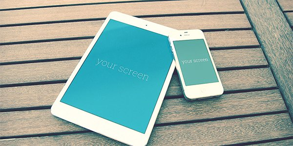 Iphone & Ipad photorealistic mockups
