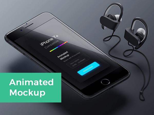 Free Iphone 7 Animated Mockup