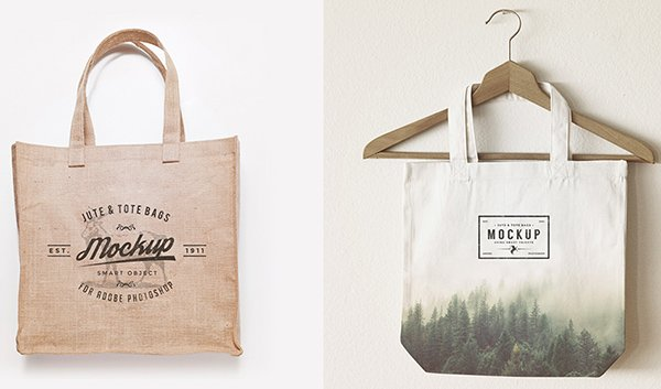 Jute & Tote Bags Mock Up Freebie