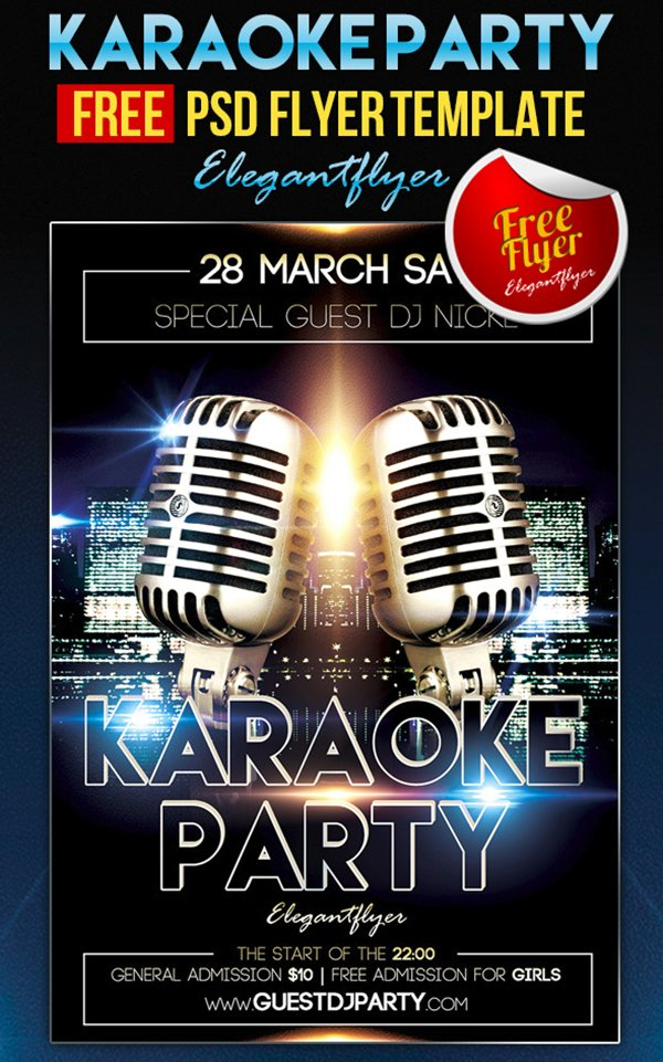 31 free party club flyer templates karaoke party flyer facebook cover saigontimesfo