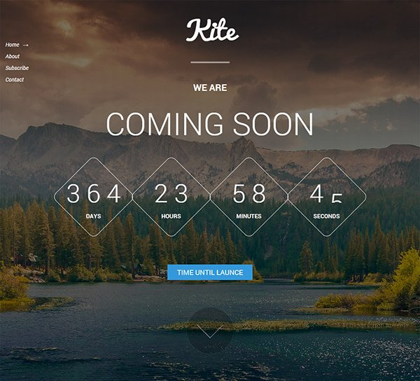 21 free coming soon under construction html web templates kite coming soon template pronofoot35fo Image collections