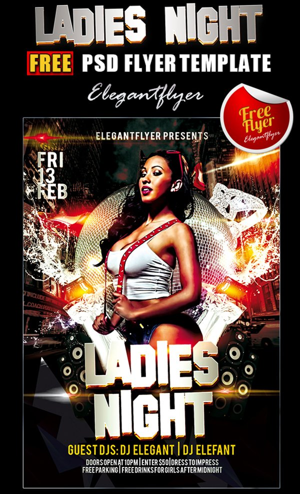 31 free party club flyer templates ladies night flyer pronofoot35fo Choice Image