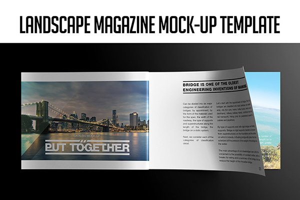 Landscape Magazine Mock-up Template
