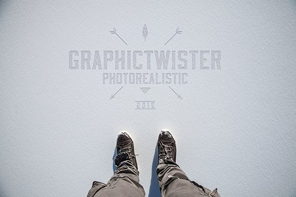 Logo Mockup On Snow