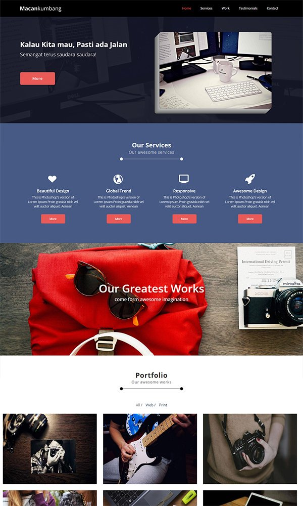 Macankumbang A Corporate Multipurpose Flat Web Template