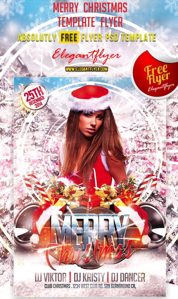 Merry Christmas – Free Club and Party Flyer