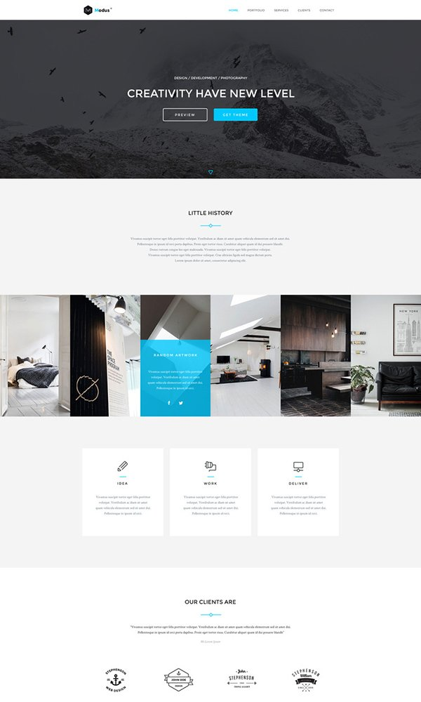 Modus - Portfolio PSD Website Template