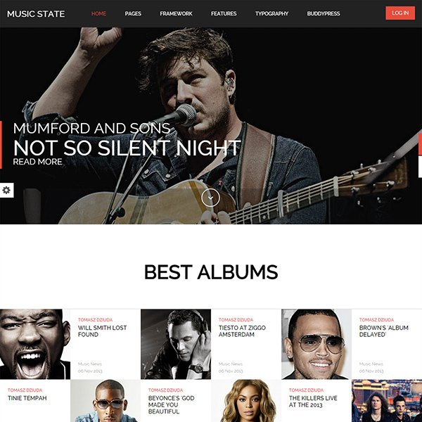 Music State - WordPress Music Theme
