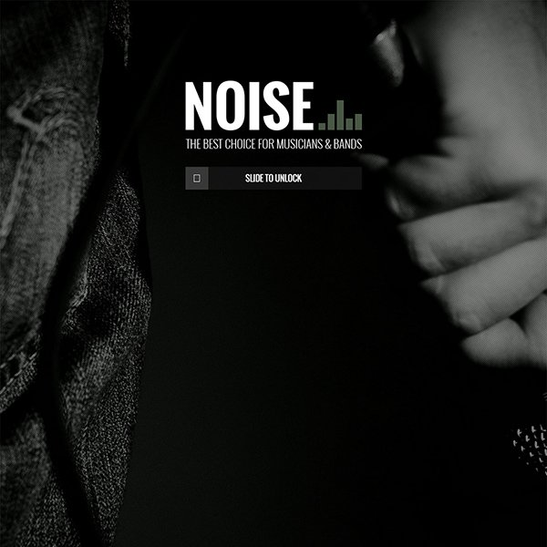 NOISE - Onepage DJs & Band WordPress Theme
