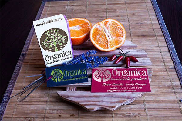 Organica Business Card Tag And Product Mockup