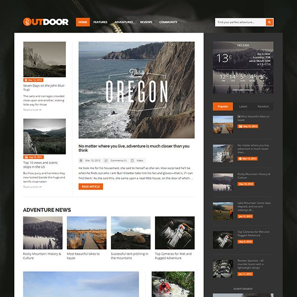 Outdoor - Responsive Adventure Blog and Magazine