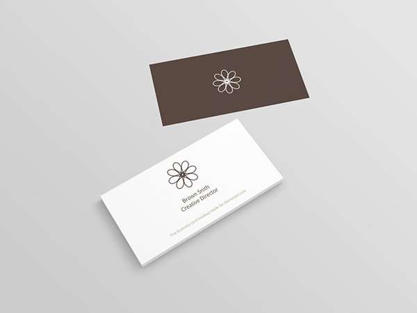 Perspective Business Card Mockup (PSD)