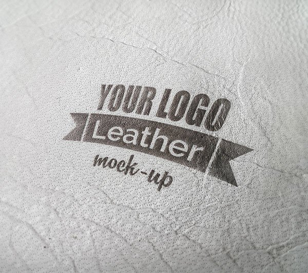 photorealistic leather mock up