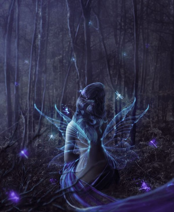 Playing with Glows and Blurs – Fairy in the Woods Photoshop Tutorial