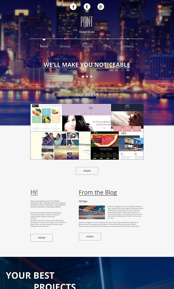 Free Responsive Design Agency Template