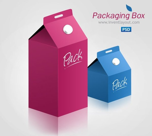 Product Packaging Box - Free PSD Mockup Template