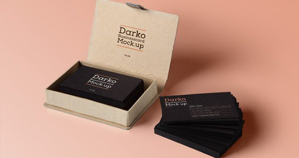 Psd Business Card Mock-Up Vol18
