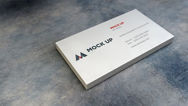 Realistic Business Card MockUp #2