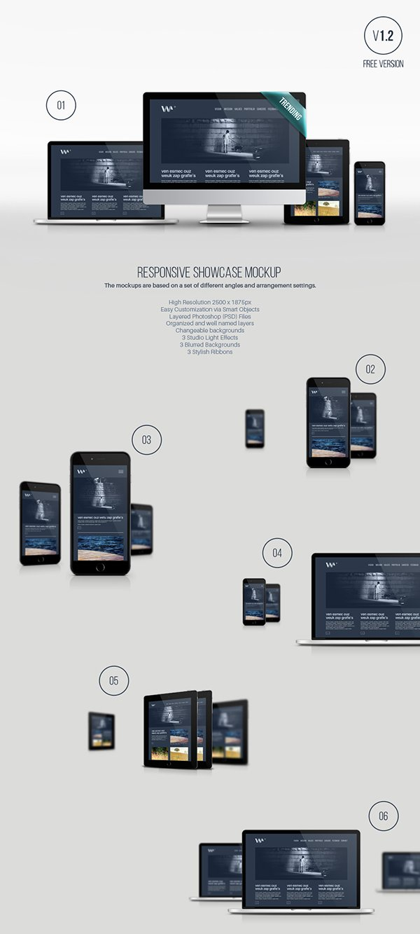 30 free psd digital devices mockups to present your ui designs, Powerpoint templates