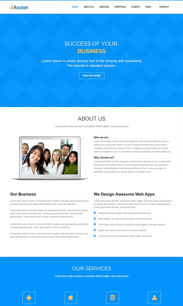 Rocket Business Web Theme