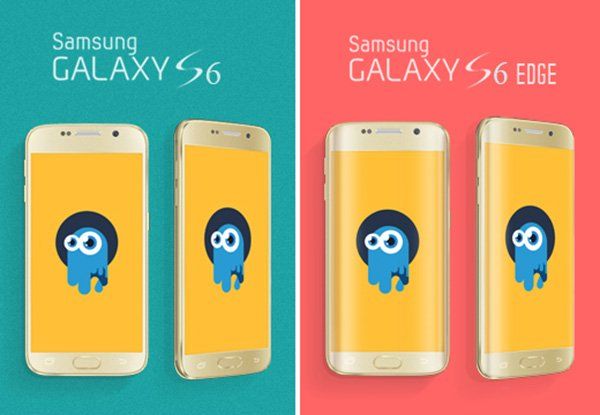 Free High-Res Samsung Galaxy S6 & S6 Edge PSD Mock-Up