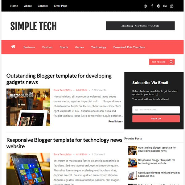 65 Best Free Blogger Templates