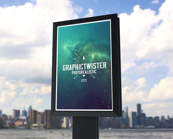 Small Outdoor Billboard Mockup vol.2