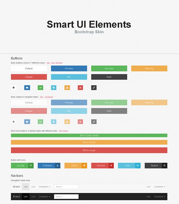 Smart – Free UI Elements Bootstrap Skin