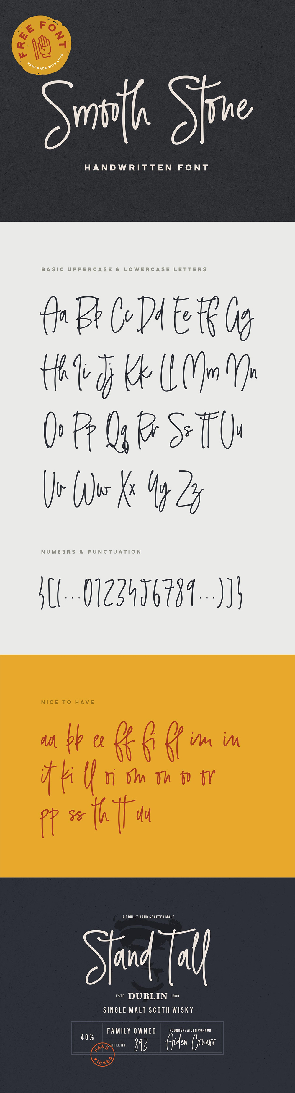 Smooth Stone - Free Handwritten Font